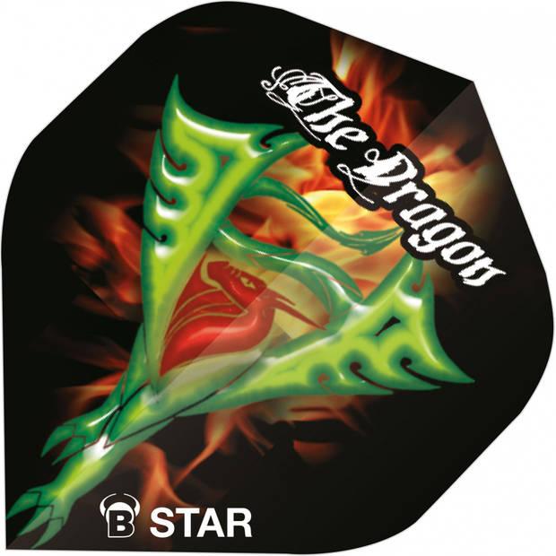 Bull's flights B-Star The Dragons A-Standard 100 micron zwart
