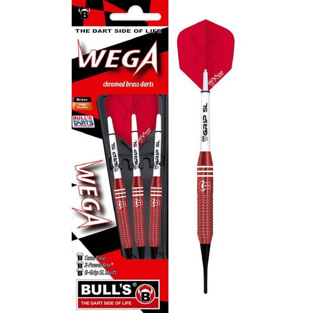 Bull's dartpijlen Wega softtip rood