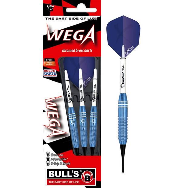 Bull's dartpijlen Wega softtip blauw