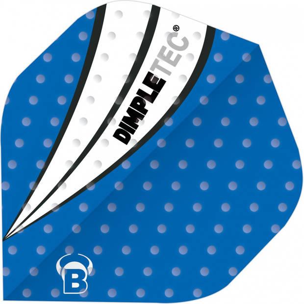 Bull's flights Dimpletec B-Standard 100 micron blauw