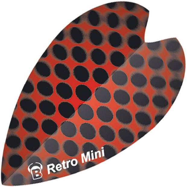 Bull's flights mini Retro & Retro 100 micron zwart/rood