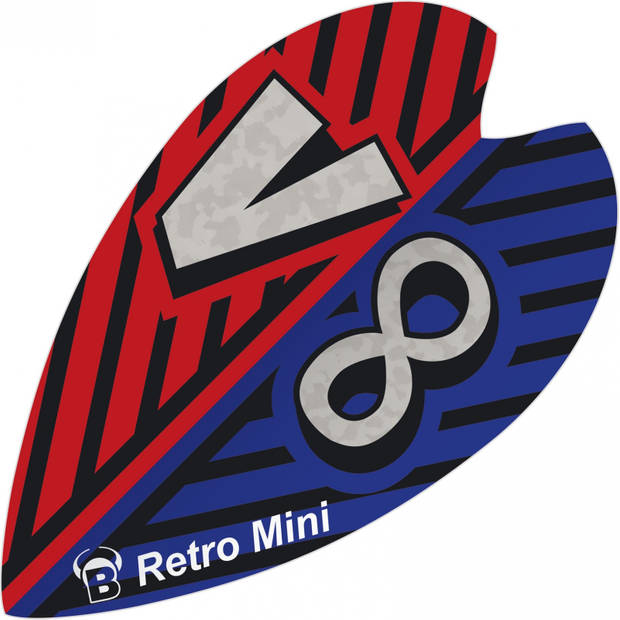 Bull's flights mini Retro & Retro 100 micron blauw/rood