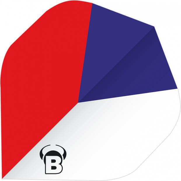 Bull's flights Powerflite A-Standard 100 micron rood/wit/blauw
