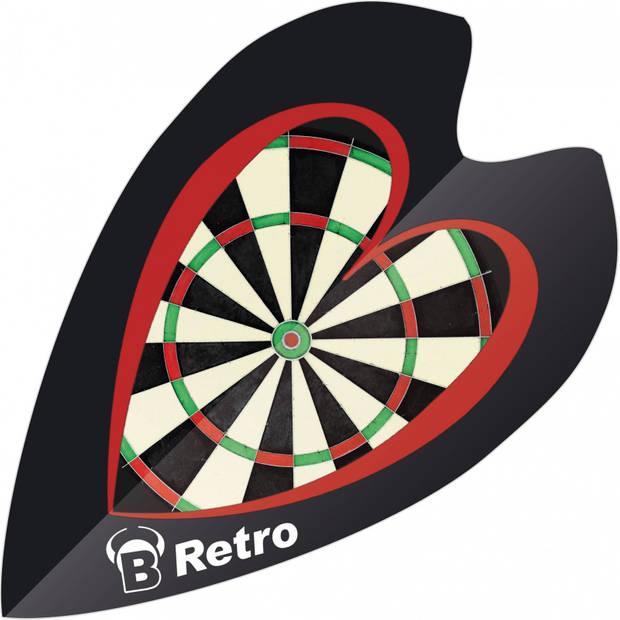 Bull's flights mini Retro & Retro dartbord 100 micron zwart