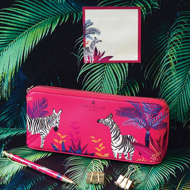 Blueprint Collections etui Zebra 21 cm roze