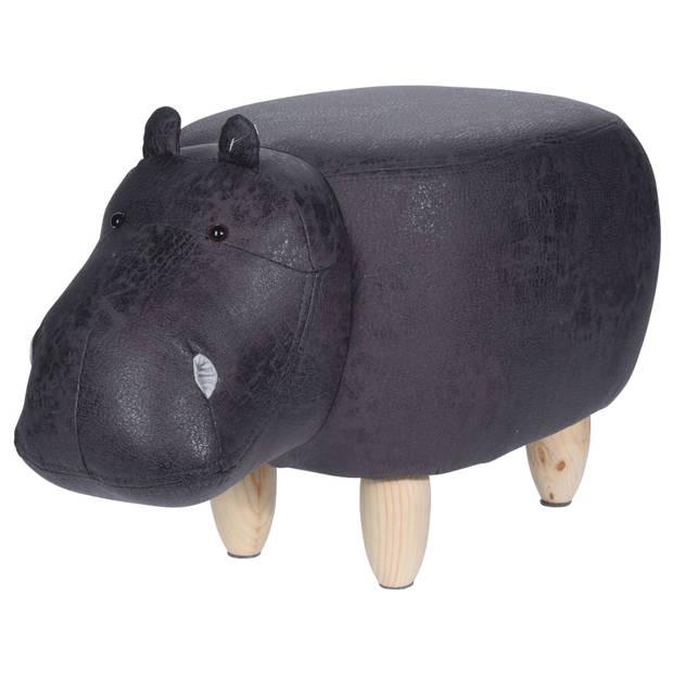 Home&Styling Kruk nijlpaard-vorm 64x35 cm