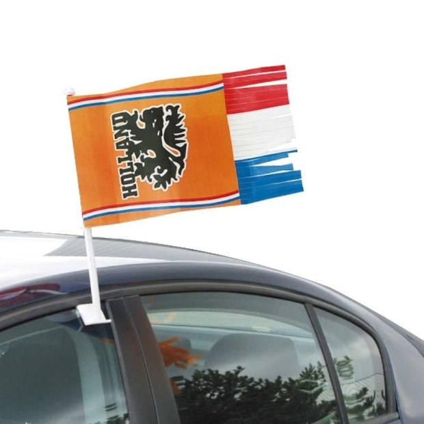 Autovlag met slierten