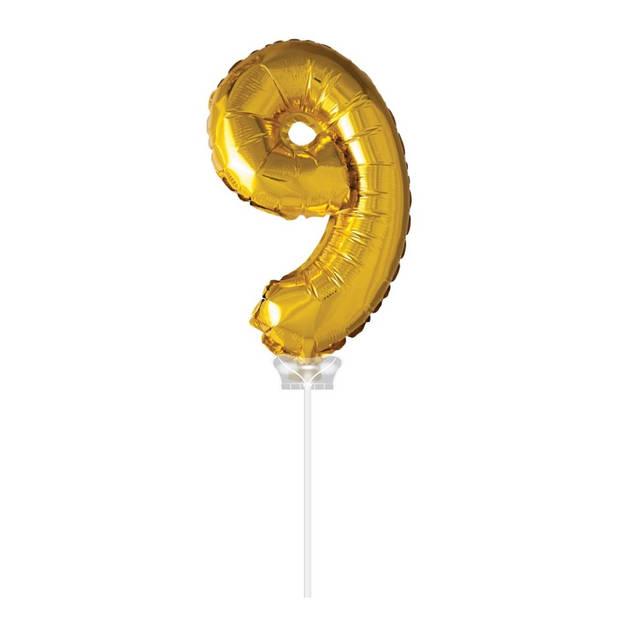 Haza Original Folie ballon 9 goud 40cm