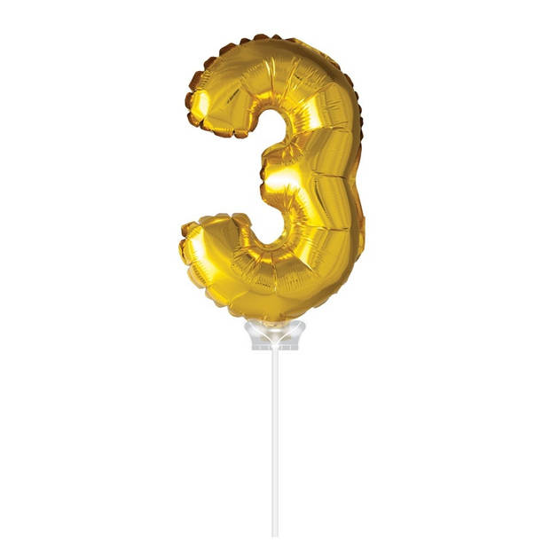 Haza Original Folie ballon 3 goud 40cm