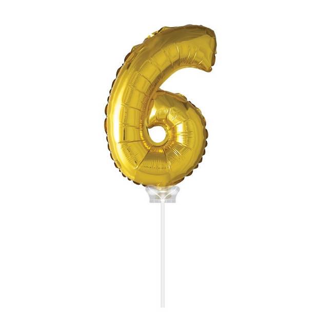 Haza Original Folie ballon 6 goud 40cm