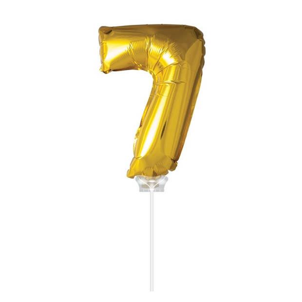 Haza Original Folie ballon 7 goud 40cm