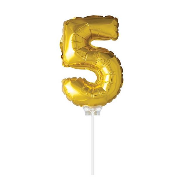 Haza Original Folie ballon 5 goud 40cm