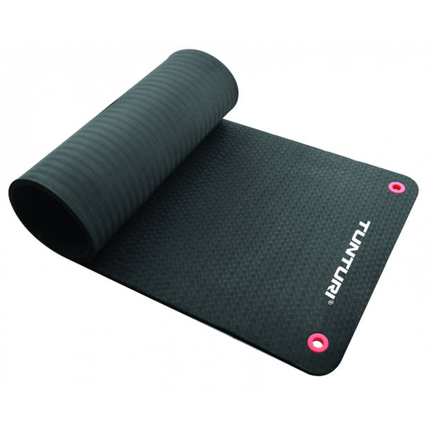 Tunturi fitnessmat pro antislip 140 cm zwart