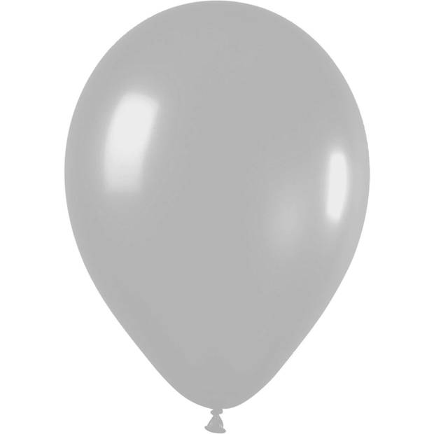 Haza Original Ballonnen Metallic Zilver 10 stuks