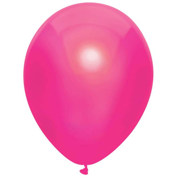 Haza Original Ballonnen Metallic donkerroze 10 stuks