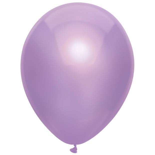 Haza Original Ballonnen Metallic Lila 10 stuks
