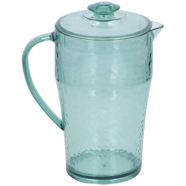 Schenkkan met deksel 25 cm - Sapkannen/waterkannen/schenkkannen/limonadekannen met deksel