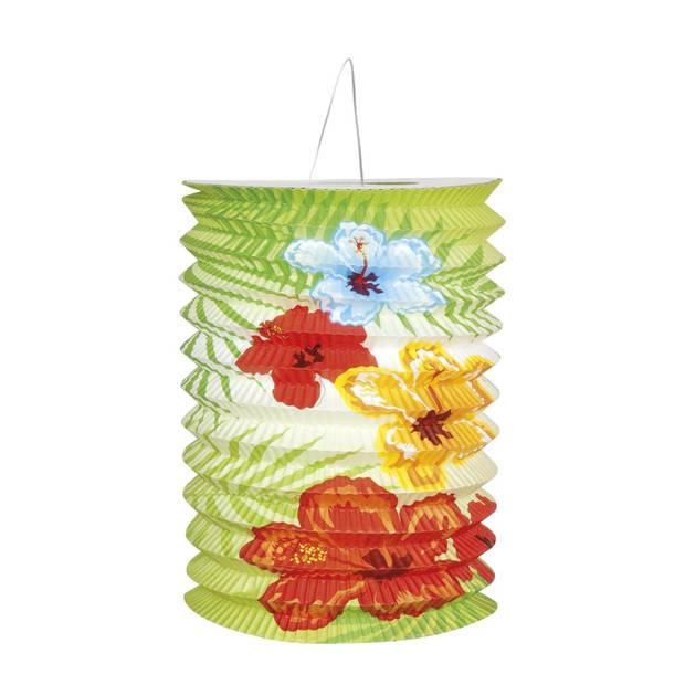 Boland lampionnen Hibiscus 16 cm 2 stuks