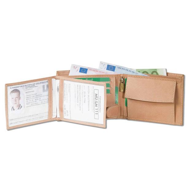 Woodland Heren Portemonnee Billfold met RFID Bescherming Leer Beige
