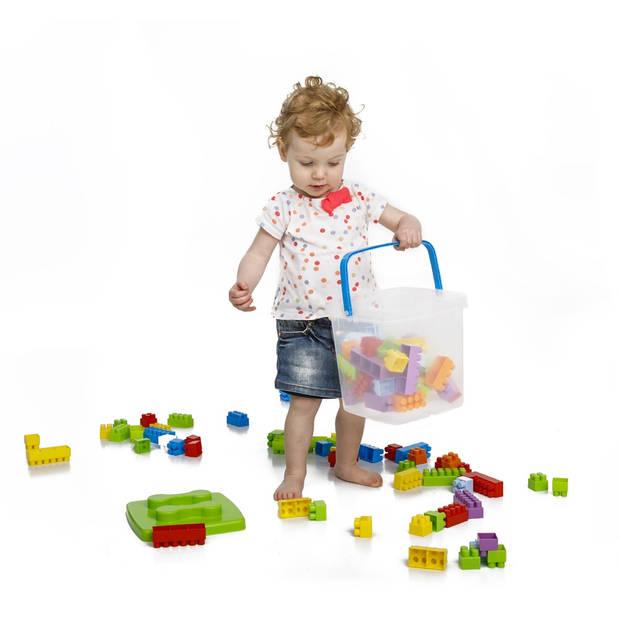 Paradiso Toys blokkenemmer 23 cm 75-delig