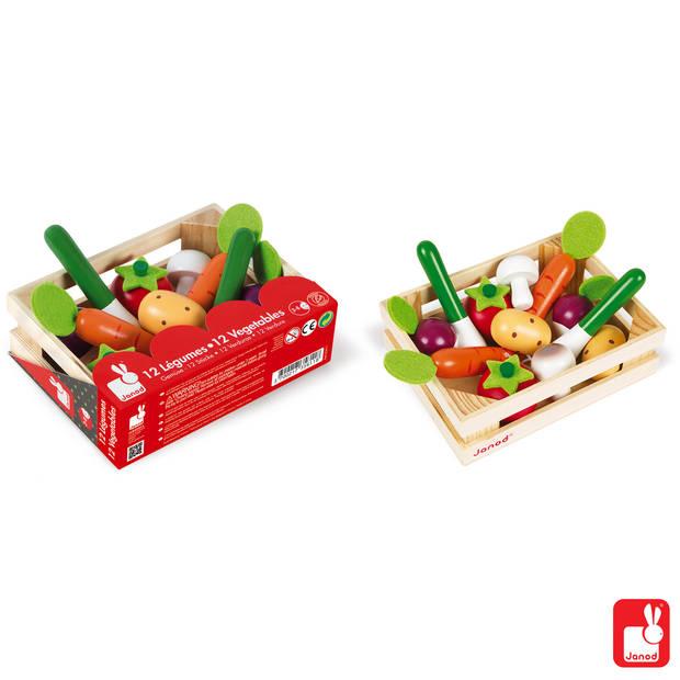 Janod Krat groenten (12-delig)
