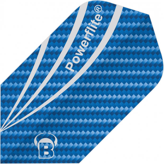 Bull's flights Powerflite Fibre Slim 100 micron blauw