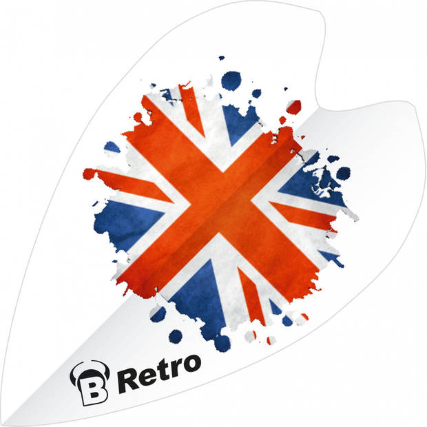 Bull's flights mini Retro & Retro UK 100 micron wit