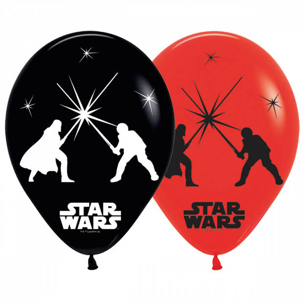 Amscan ballonnen met led-verlichting Star Wars 28 cm 5 stuks