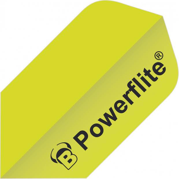 Bull's flights Powerflite Slim 100 micron geel