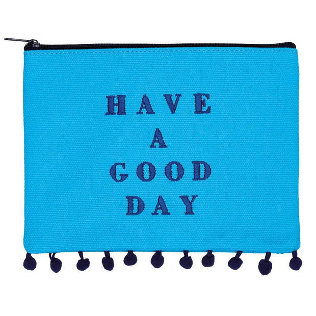 Moses etui Have a Good Day blauw 20 x 15 cm