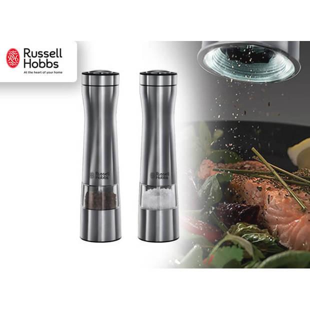 Russell Hobbs Elektrische Peper- en Zoutmolen - RVS - Met Verlichting