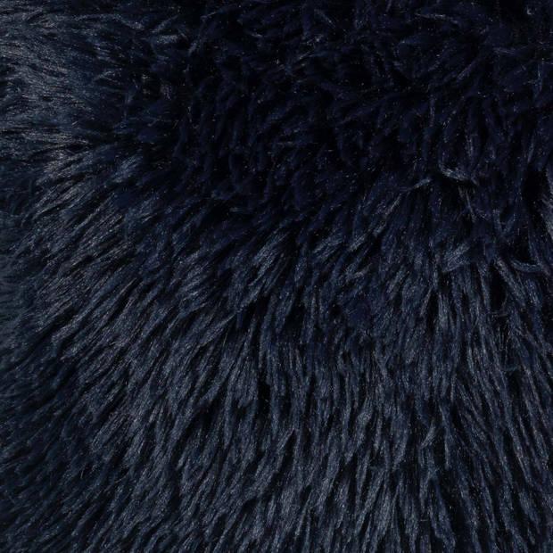 Dutch Decor Kussenhoes Fluffy 45x45 cm donkerblauw
