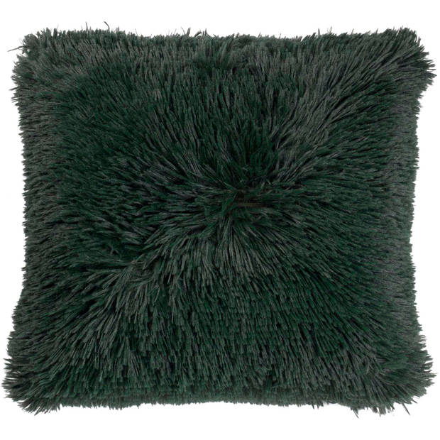 Dutch Decor Kussenhoes Fluffy 45x45 cm groen