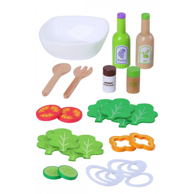 Gerardo's Toys salade hout 28-delig