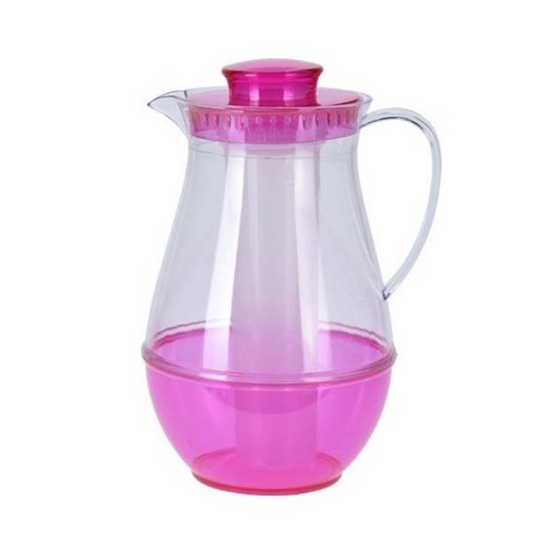 Roze schenkkan met koelfunctie - Waterkannen/schenkkannen/sapkannen met koelstaaf
