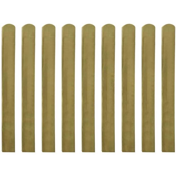 vidaXL 30 st Heklatten 100 cm geïmpregneerd hout