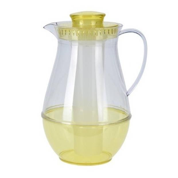 Gele schenkkan met koelfunctie - Waterkannen/schenkkannen/sapkannen met koelstaaf