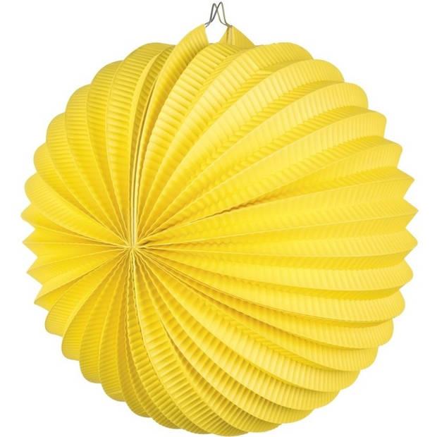 Lampion geel 22 cm