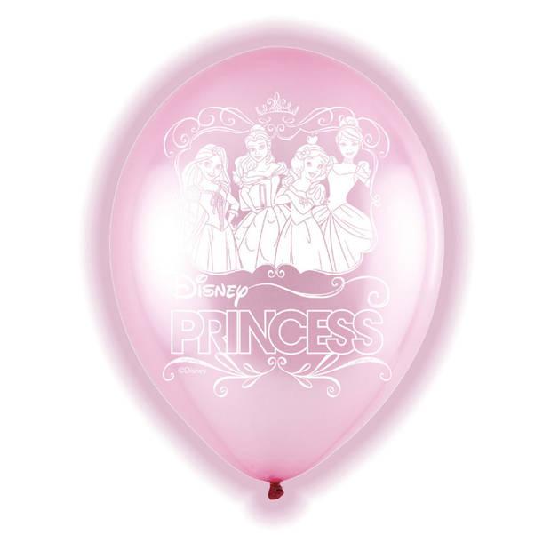 Amscan ballonnen met led-verlichting Disney Princess 28 cm