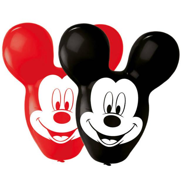 Amscan ballonnen giant ears Mickey Mouse 4 stuks zwart/rood