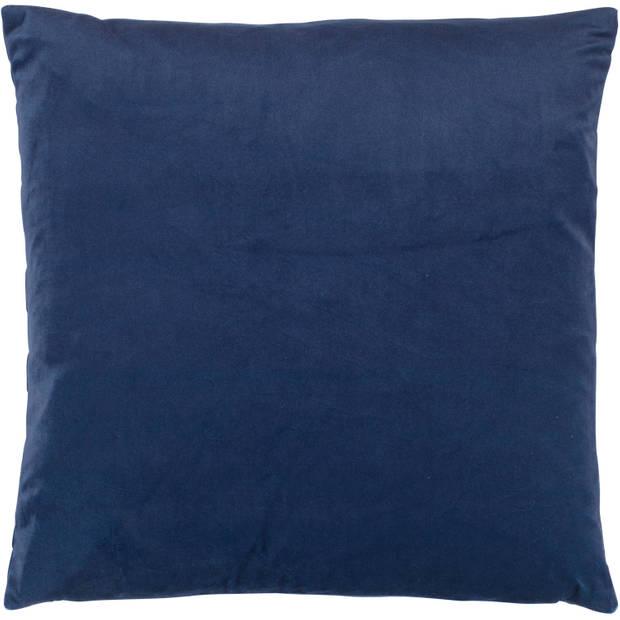 Dutch Decor Kussenhoes Karlijn 45x45 cm donkerblauw