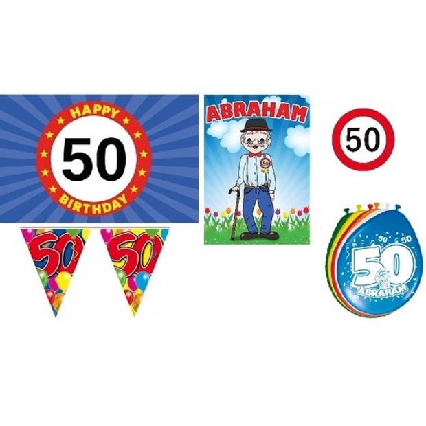 50 jaar versiering feestpakket Abraham