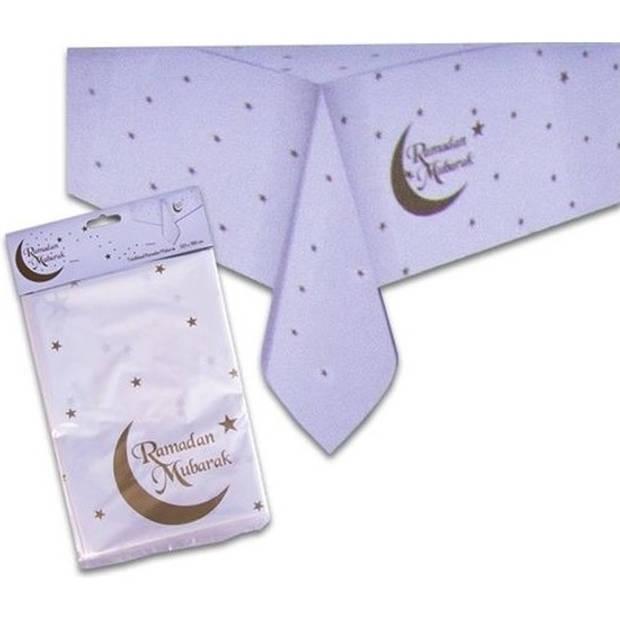 Ramadan Eid Mubarak tafeldecoratie set tafelkleed/bordjes/bekers - Offerfeest/Suikerfeest thema papieren tafeldecoraties