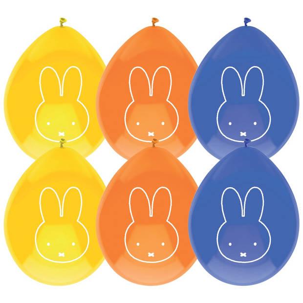 Haza Original ballonnen Nijntje 6 stuks blauw/geel/oranje