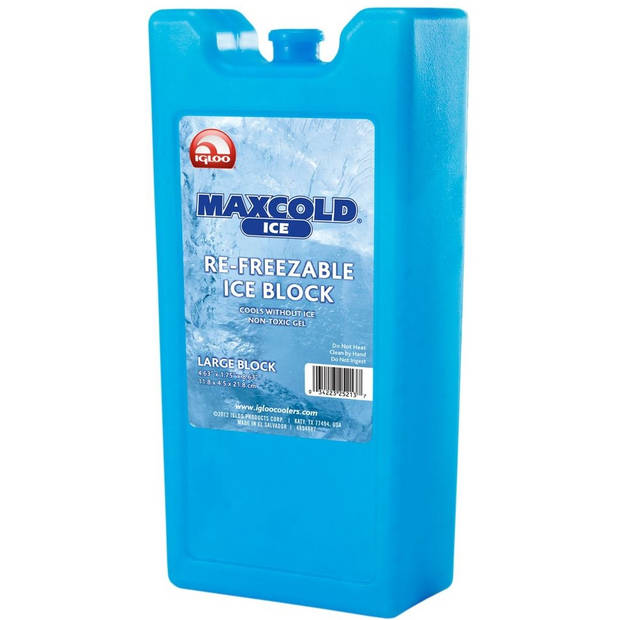 Igloo koelelement Maxcold Large 930 gram blauw