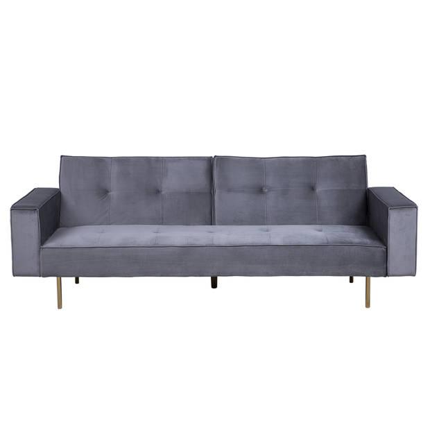 Beliani VISNES Slaapbank Fluweel 107 x 218 cm