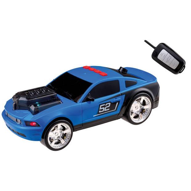 Happy People raceauto Key Racer licht en geluid 28 cm blauw