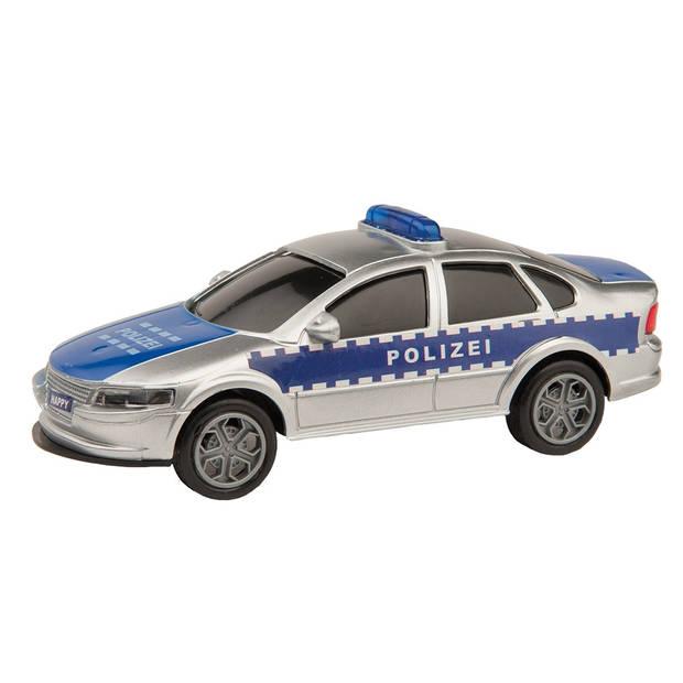Happy People politieauto met licht en geluid 13 cm blauw