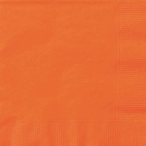 Haza Original servetten oranje 17 x 17 cm 20 stuks