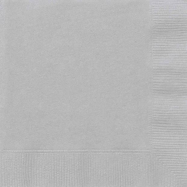 Haza Original servetten zilver 17 x 17 cm 20 stuks